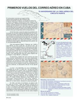 Primeros vuelos del correo aéreo en Cuba