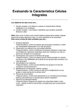 celulas integrales - Iglesia Evangélica Metodista de Costa Rica