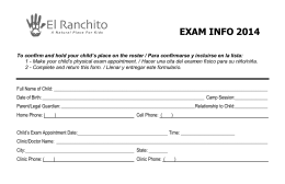 El Ranchito Health Form