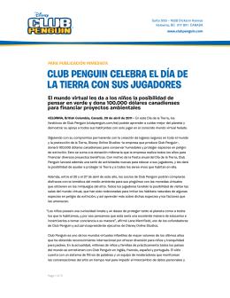 Club Penguin Celebra el Día de la Tierra Con sus jugaDores