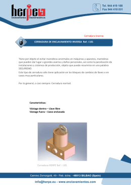 Cerradura Inversa CERRADURA DE ENCLAVAMIENTO INVERSA