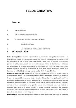 Proyecto Telde Cultural en formato pdf