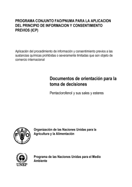Documentos de orientación para la toma de decisiones