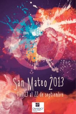 Consulta el programa íntegro de San Mateo 2013