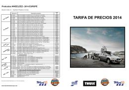 Tarifa Remolques Thule 2014