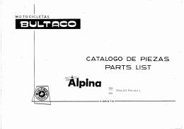 Bultaco Alpina 250-350 Mod 212-213 - Despiece SPGB