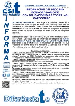 CSIT UNIÓN PROFESIONAL SOLICITA EL DESBLOQUEO