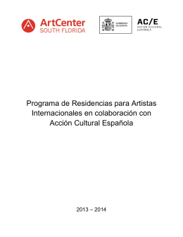 Residencies Final Report - Accion Cultural Española