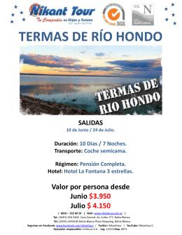 TERMAS DE RÍO HONDO