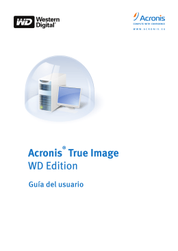 Acronis True Image WD Edition - User Manual