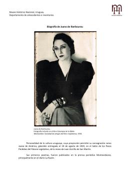 Biografía de Juana de Ibarbourou