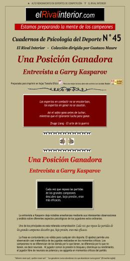 Una Posición Ganadora Entrevista a Garry Kasparov