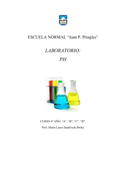 LABORATORIO: PH