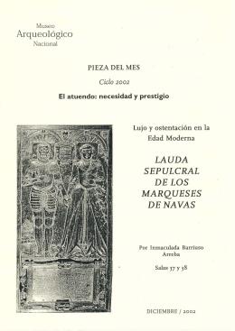 LA UDA SEPULCRAL DE LOS MARQUESES DE NAVAS