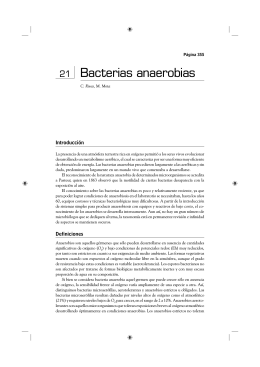 Bacterias anaerobias - Instituto de Higiene