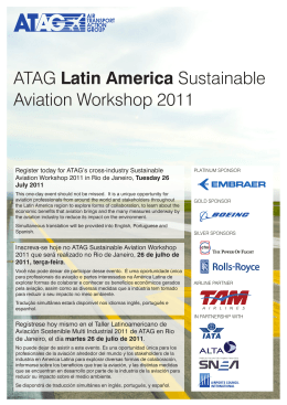 ATAG Latin America Sustainable Aviation Workshop 2011