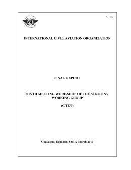 INTERNATIONAL CIVIL AVIATION ORGANIZATION FINAL