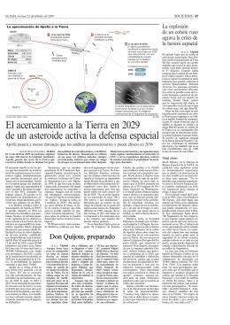 ASTRONOMIA asteroide apofis feb 07