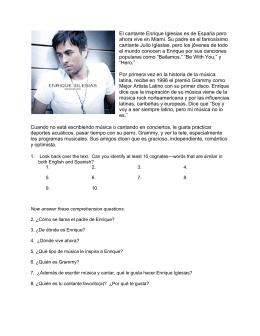 Enrique Iglesias - Las clases del Sr. Mullins