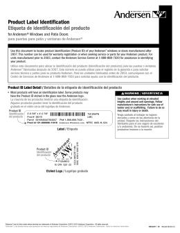 Service Guide - Windows & Patio Doors