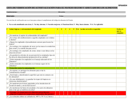 Food Safety and Security Self Audit Checklist