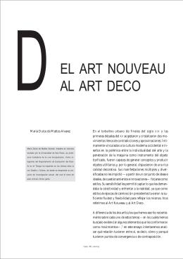 EL ART NOUVEAU AL ART DECO