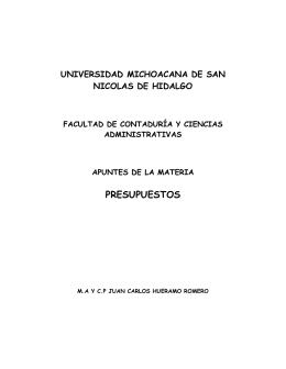apuntes presupuestos - Facultad de Contaduría y Ciencias