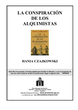 Czajkowski, Hania - La Conspiración de los Alquimistas
