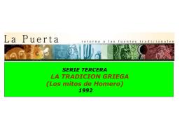 Tradició griega, 1992.