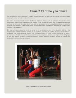 Tema 2 El ritmo y la danza.