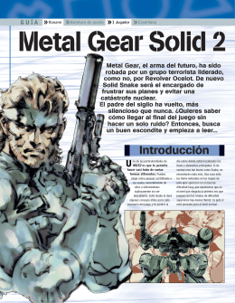 Descargar Metal Gear Solid 2