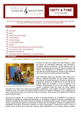 Boletín Noti&FYME – 07 / 2012 - Fundación Yehudi Menuhin España