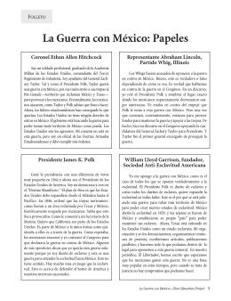 La Guerra con México: Papeles