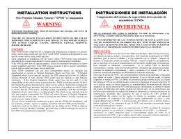 WARNING ADVERTENCIA ! ! - OptiCat Online Catalog