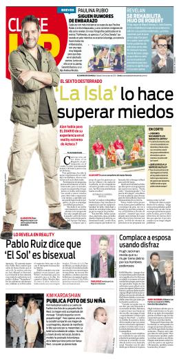 Pablo Ruiz dice que `El Sol` es bisexual