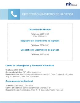 DIRECTORIO MINISTERIO DE HACIENDA