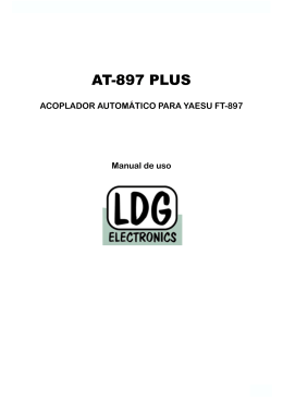 Manual de uso acoplador LDG AT-897PLUS