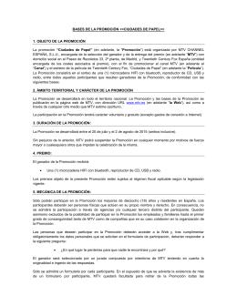 BASES DE LA PROMOCIÓN > 1