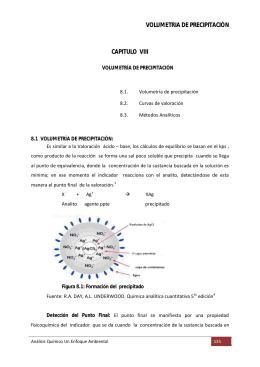 VOLUMETRIA DE PRECIPITACIÓN CAPITULO VIII