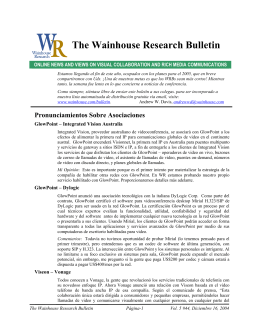 WR Bulletin Vol 5 Issue #44 16-Dec-04 (Spanish)