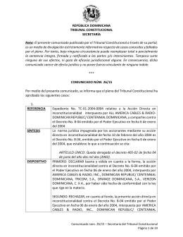 REPÚBLICA DOMINICANA TRIBUNAL CONSTITUCIONAL