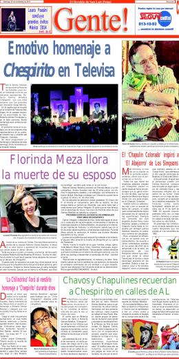 Florinda Meza llora la muerte de su esposo