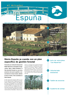 Sierra Espuña ya cuenta con un plan específico de gestión forestal