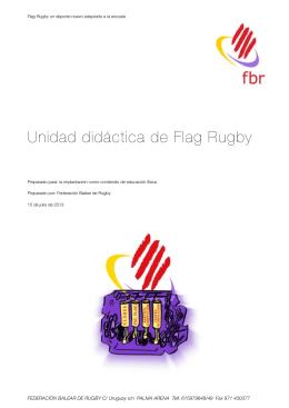 Unidad Didáctica Flag Rugby