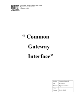 """ Common Gateway Interface"" - Departamento de Electrónica"