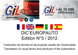 DIC`EUROPAUTO Edition N°5 / 2012