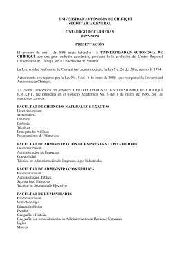 UNIVERSIDAD AUTÓNOMA DE CHIRIQUÍ SECRETARÍA