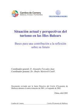 Situación y perspectivas del turismo en las Islas Baleares 2003