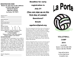 2014 Volleyball Camp - La Porte Independent School District