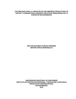tortas & ponques maredu stevia - Universidad Industrial de Santander